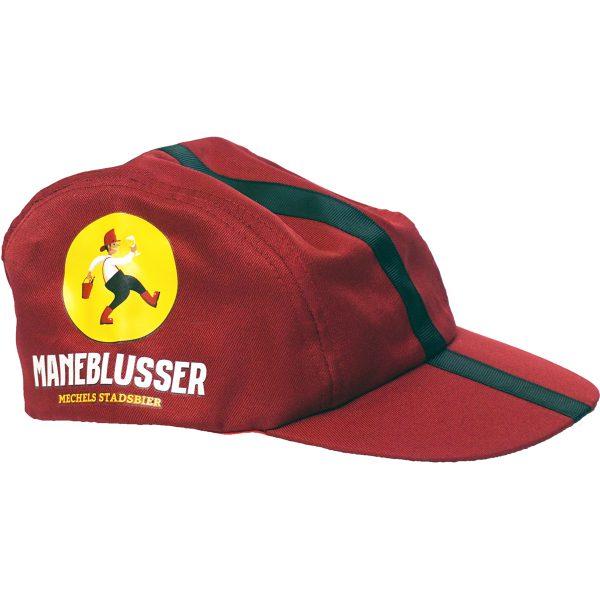 Rode pet met Maneblusser logo