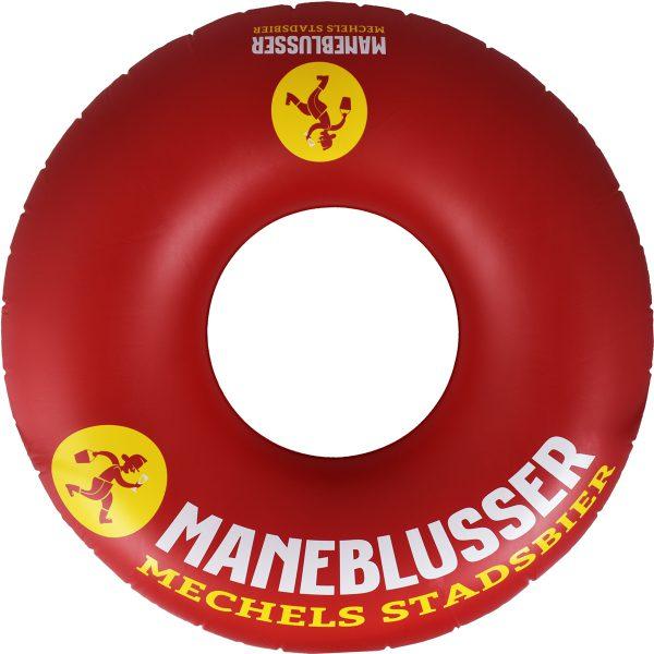 Rode zwemband van het Mechels stadsbier Maneblusser